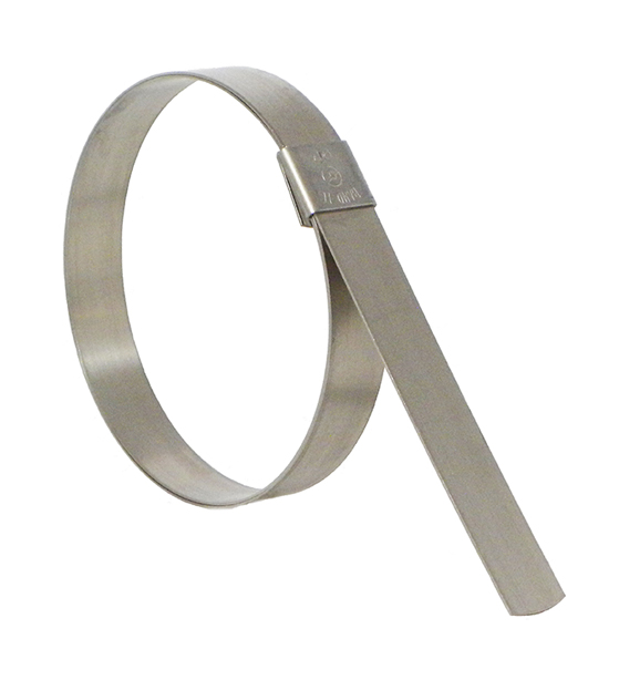 Galvanized Carbon Steel Center Punch Clamp BAND-IT CP0699 5//8 Wide x 0.025 Thick 1-1//2 Diameter 100 Per Box