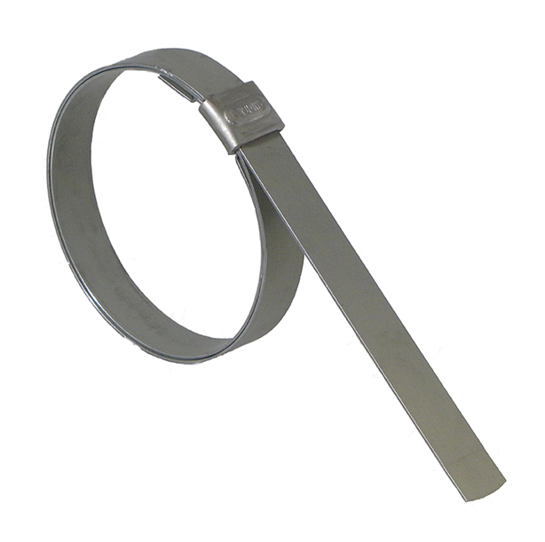 Clamp 1-1//2 Diameter BAND-IT JS2319 Junior 1//2 Wide x 0.030 Thick 1-1//2 Diameter 201 Stainless Steel Smooth I.D 100 Per Box